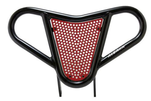 Yamaha Raptor 90   Front Bumper  Black /& Red Screen    Alba Racing   197 M2 BR