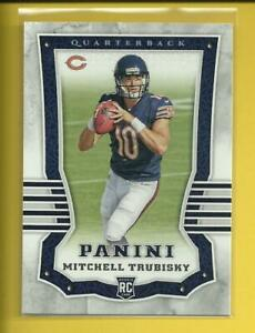 Mitch Trubisky RC 2017 Panini Football Rookie Card # 101 Chicago Bears NFL