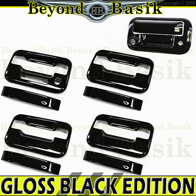 For 2015-2019 Ford F-150 F150 8pcs Gloss Black Door Handle Covers W// Smart Key