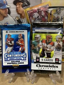 NFL cards sealed Pack X2 Contenders/Chronicles 🏈🔥 Herbert/TUA/Lawrence/Wilson