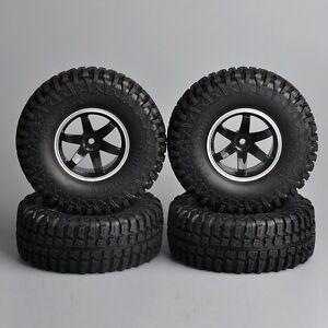 Scale-1-10-R-C-Model-Rock-Crawler-Car-Tire-Tyre-Wheel-Rims-Set-of-4PCS-1-9in