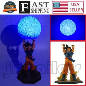 Anime Dragon Ball Z SON GOKU Genki Dama Spirit/Bomb Figure Set DIY LED Lamp