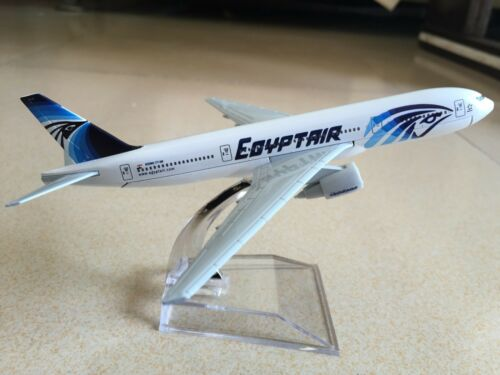 EGYPT AIR BOEING 7777-200 Passenger Airplane Plane Alloy Aircraft Diecast Model