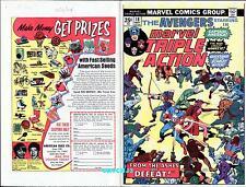 JACK KIRBY 1974 CAPTAIN AMERICA AVENGERS MTA ORIGINAL COVER PROOF PRODUCTION ART