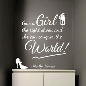 MARILYN MONROE Girl Right Shoes Conquer World Art Quote Wall Stickers Decal 322 - <span itemprop=availableAtOrFrom>London, United Kingdom</span> - Additional return policy details: We are happy to exchange or refund your purchases as long as they are returned within 14 calendar days of receiving. Items should be returned in the origi - London, United Kingdom