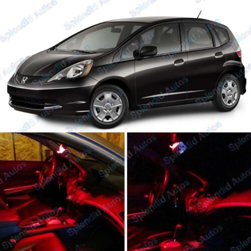 Brilliant Red Interior LED Package For Honda Fit Jazz 2009-2016 6 Pieces #65