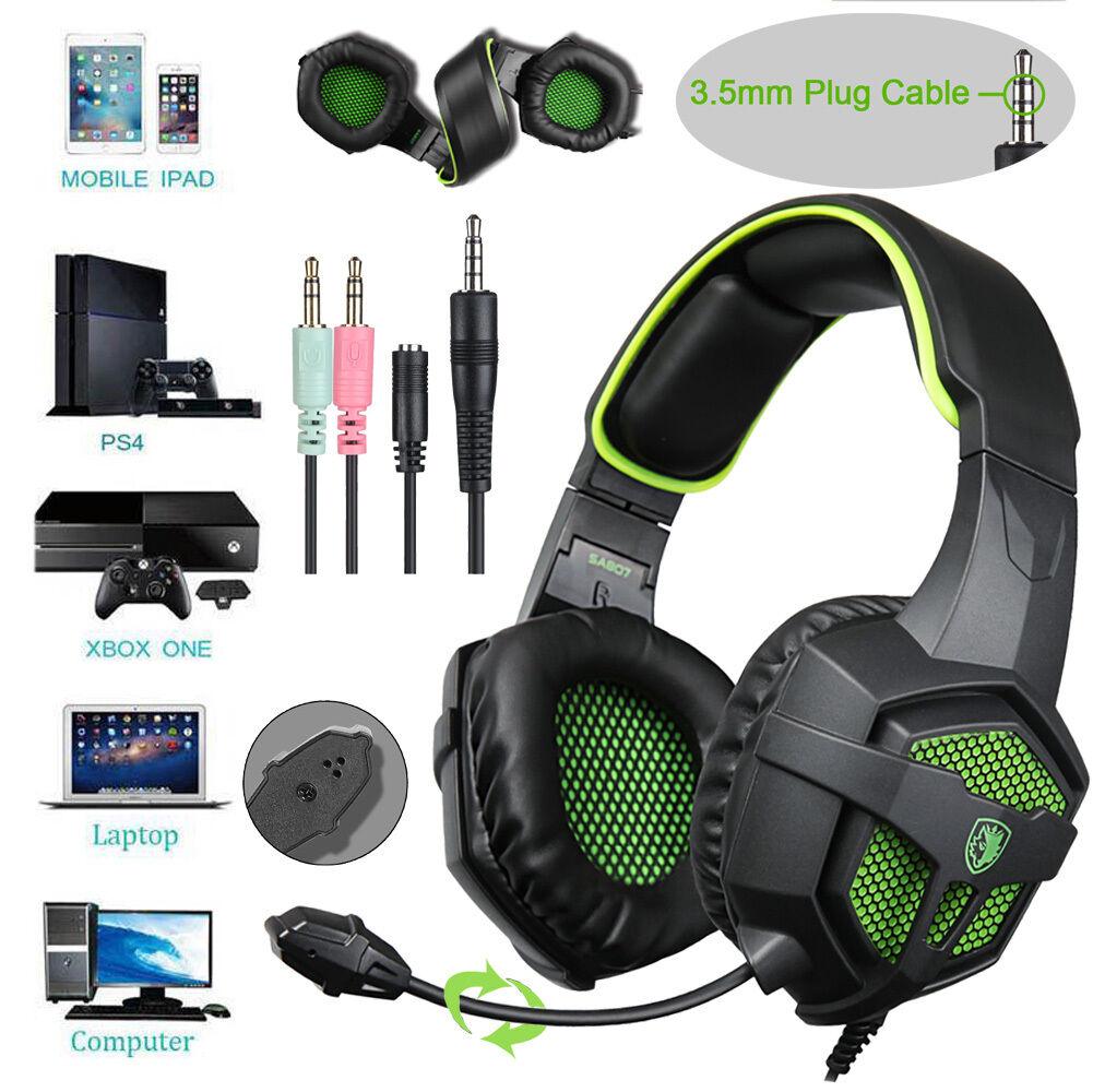sades sa 807 stereo pro gaming headset headband headphone. Black Bedroom Furniture Sets. Home Design Ideas