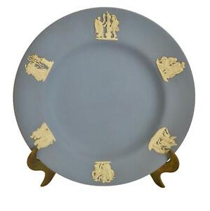 Wedgwood-Blue-Jasperware-Plate-Jasper-Pottery-Decorative-English