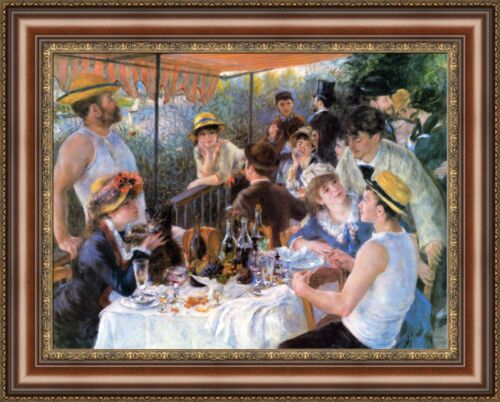 """Pierre Auguste Renoir The Luncheon of the Boating Party 27/""""x21.5/"""" V07-34"""