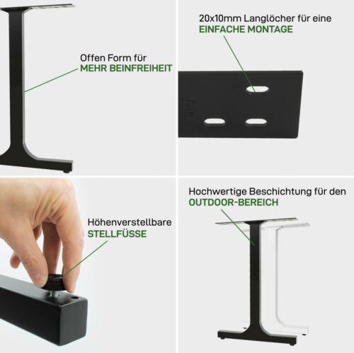 Tischkufen höhenverstellbar Tischgestell Tischbeine Restaurant Bistro Esstisch
