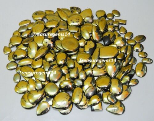 250 CTS venta al por mayor Lote natural Apache oro Pirita mezcla cabujón de piedras preciosas de Arizona