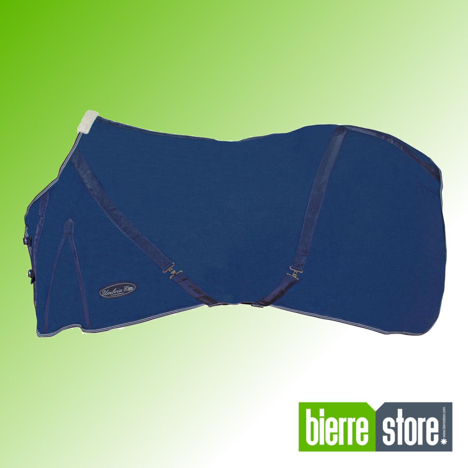 Decke für Pferde Baumwolle Blau Kreuzgurten