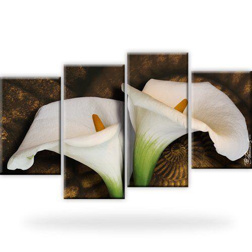 4 Bilder XXL Mit Keilrahmen Calla Bild auf Leinwand
