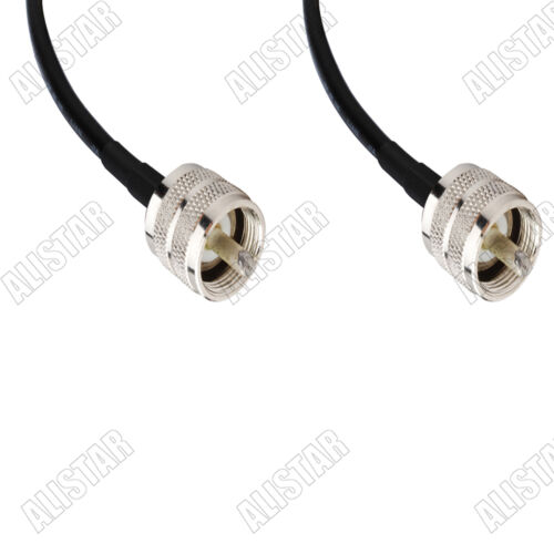 PL-259 UHF Male to UHF Male KSR195 2M 6FT Jumper Coaxial Cable For WiFi Antenna