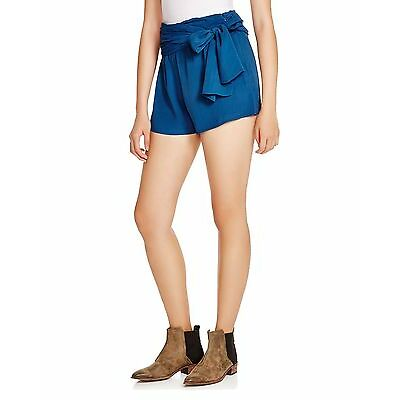 Free People Women's Extreme Faux-Wrap Shorts Sapphire 8
