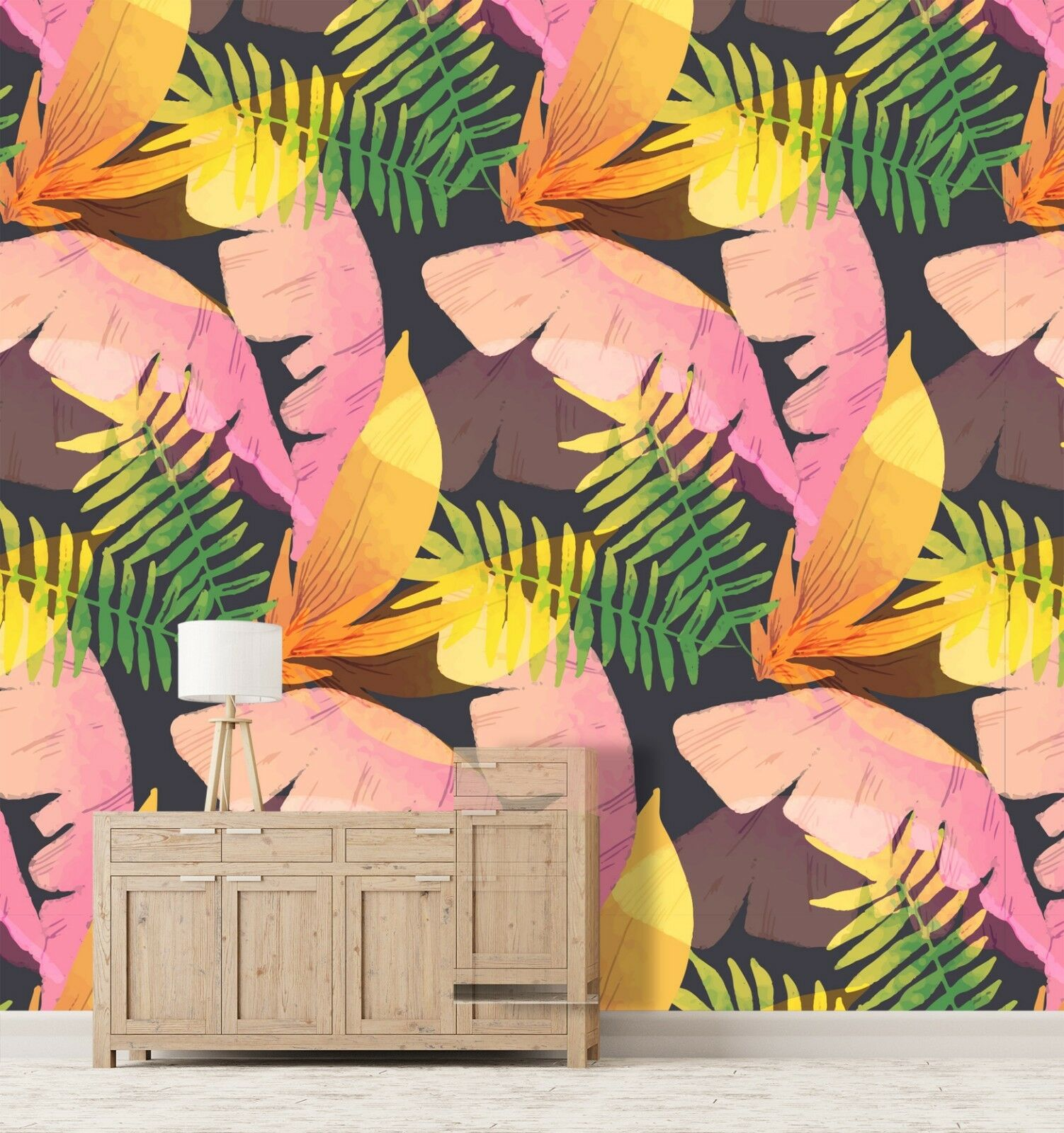 3D Plant Farbe Painting 45 Wall Paper Wall Print Decal Wall Deco Indoor Murals
