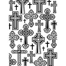 Darice Embossing Folder ~ CROSSES ~NEW Just Out Easter Card Making A2 1219-106