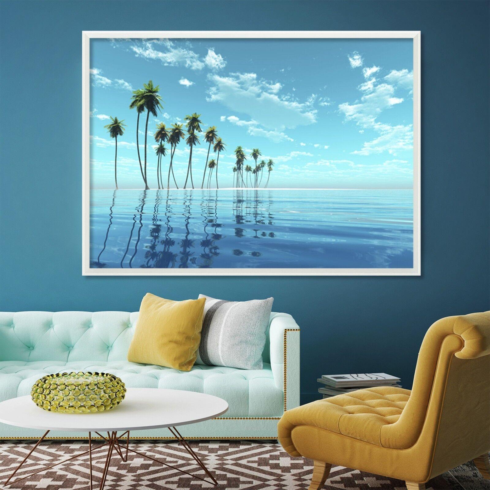 3D Coconut Island 52 Framed Poster Home Decor Print Painting Art AJ WALLPAPER