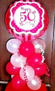 "18/"" FOIL BALLOON AGE 60 60th BIRTHDAY TABLE DECORATION DISPLAY AIRFILL RL"
