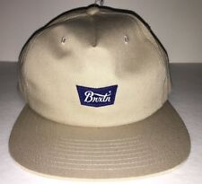 806bb521 Brixton Stith ll Khaki Unstructured Snapback Mens Hat OS NEW!