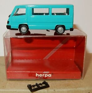 MICRO-HERPA-HO-1-87-MERCEDES-BENZ-MB-100-D-BUS-MINIBUS-TURQUOISE-041621-IN-BOX