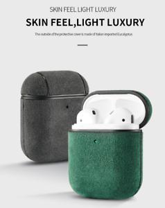 For Apple Airpods 1 2 Green Skin Trendy Color Alcantara Leather Earphone Case Ebay