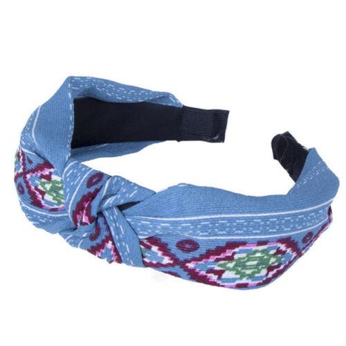 Wide Knotted Twist Headband Flower Floral Hairband Women Fashion Headwear