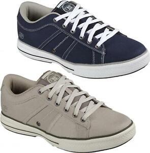 Skechers-ARCADE-fulrow-da-Uomo-Tela-memoria-Foam-Casual-Comfort-Scarpe-Da-Ginnastica-Con-Lacci