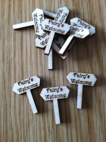 X10 Wooden Fairy Signpost