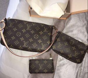 grande vente d82a8 40827 Details about Louis Vuitton Monogram Canvas Pochette Accessoires-Brand New