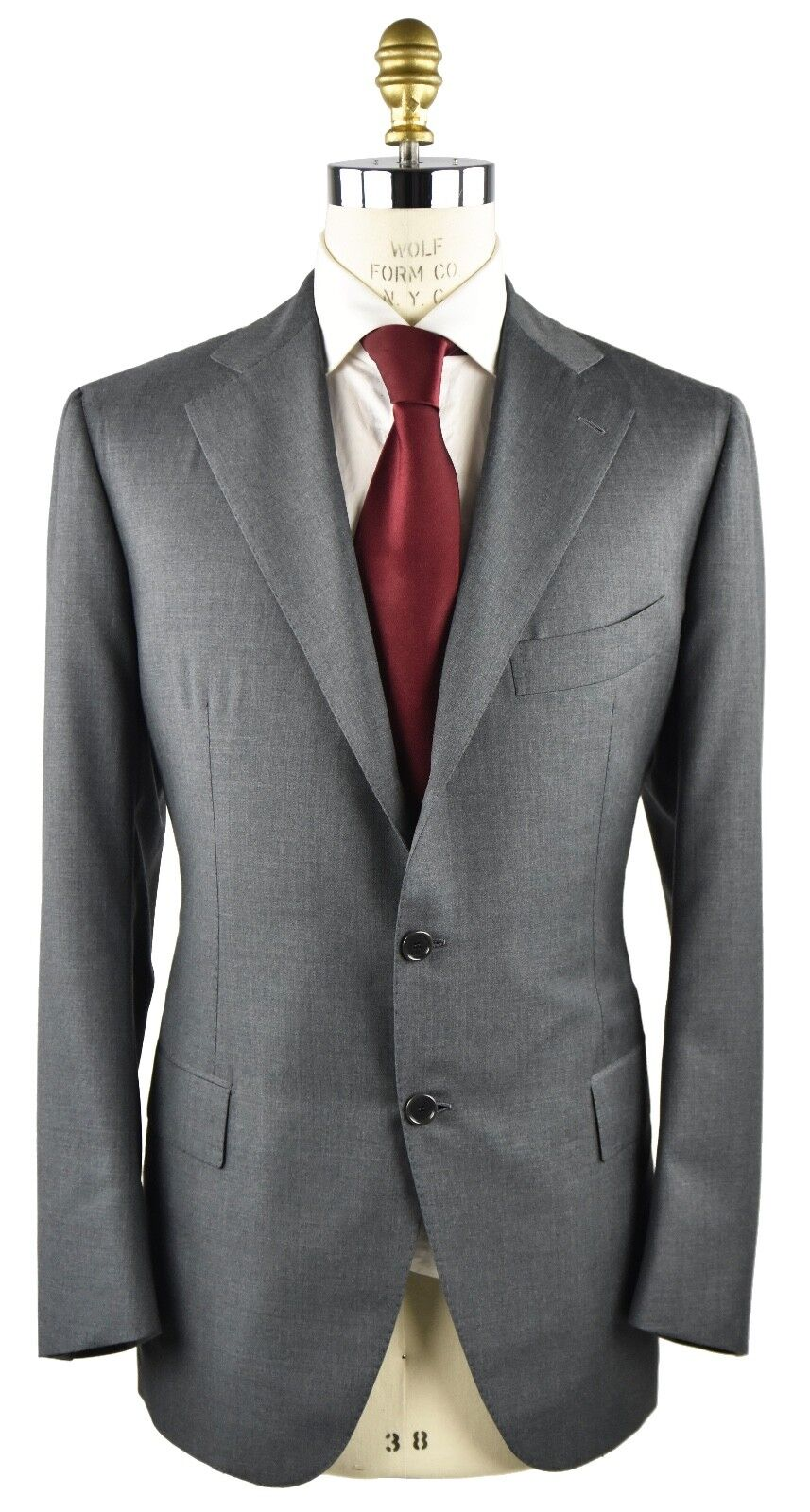 NEW 2018 CESARE ATTOLINI SUIT 100% WOOL SZ 46 US 56 R 18AVW25