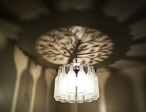 Unique TREE OF LIFE Shadow Bottle Chandelier Light Made in the USA, gifts,