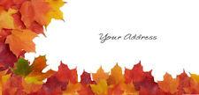 Return Address Mailing Label Maple Leaves Fall Color