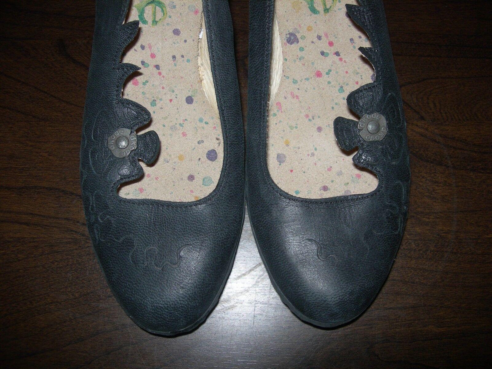 Dkode Zapatos Mujer Sin Cordones Cordones Cordones Tacones De Cuero Negro Floral EU 37 - 37.5 UK 4 - 4.5 c2f9a4