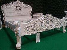 BIANCO con dettagli argento Chatelet ® letto Francese Stile Barocco Rococò Oriental