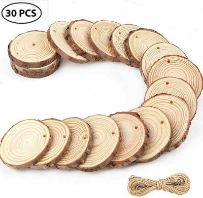 50 X Holzscheiben Baumscheiben Astscheiben 5-6cm Rund Hochzeit Bastel Mit Loch