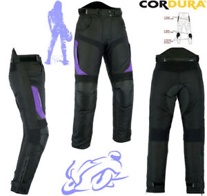 WOMENS-PURPLE-SPEED-MAXX-LADIES-ARMOUR-MOTORBIKE-MOTORCYCLE-MOTOCROSS-TROUSERS