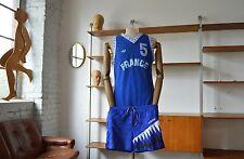 adidas Shorts shiny Sprinter Sporthose made England True Vintage blau glänzend