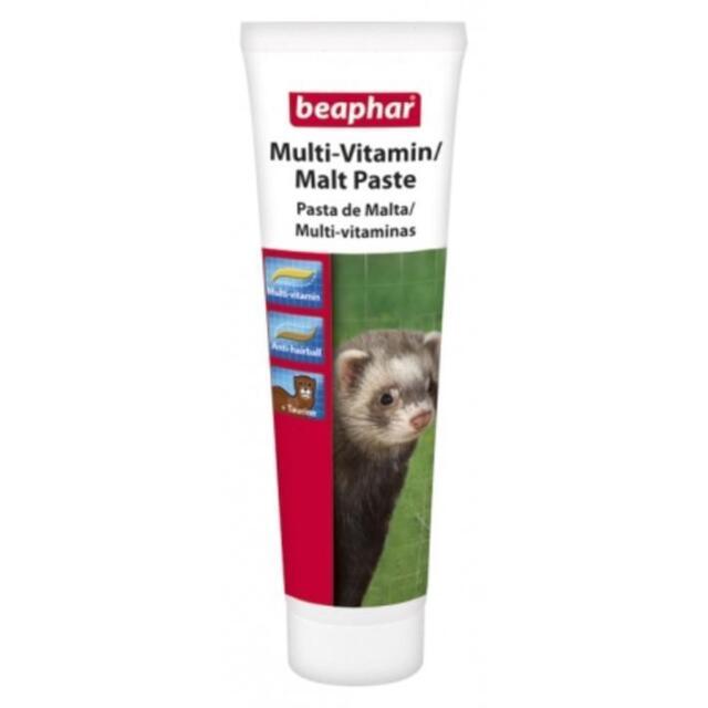 Beaphar Ferret MALT PASTE Multivitamin Multi Vitamin Mineral Supplement 100gm