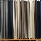 HARLOW Eyelet 100% Blackout Curtains -140/240/320 w x 160 drop Linen Look