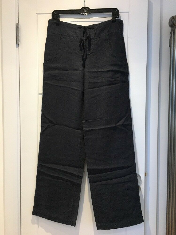 VINCE Navy bluee Linen Trousers Pants Wide Leg S Small US 0 2 New NWT