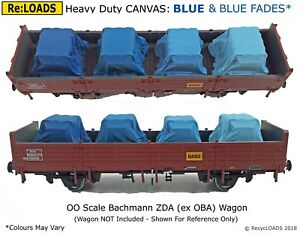 Z Scale N DARK GREY /'Canvas/' Tarped Covered Sheeted Model Road /& Railway Load