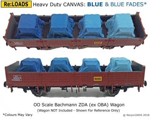 BLUE /& Fades Tarped Covered Sheeted Road /& Railway Loads HO OO Scale Gauge