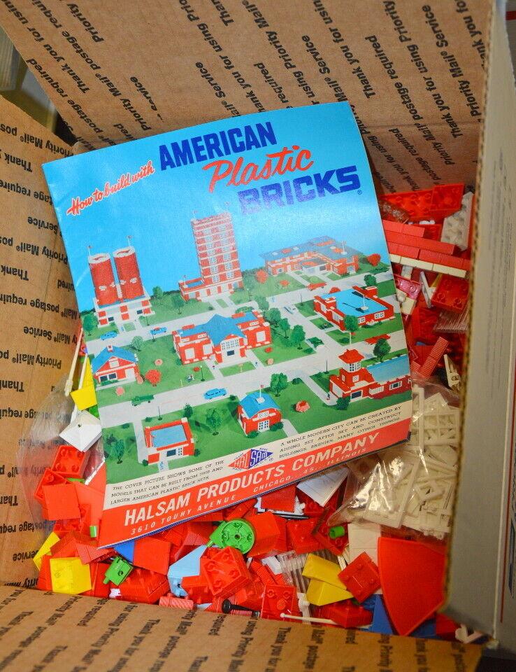 7 libras (más de 1000 Piezas) De Colección American Ladrillo Bloques de construcción de plástico