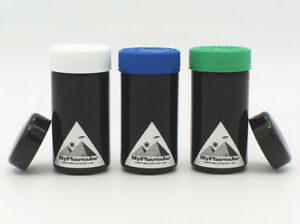 Miron-Glass-100-Ml-3-3Oz-3Pack-Tall-Black-Ultraviolet-curing-jars-Freeshipping