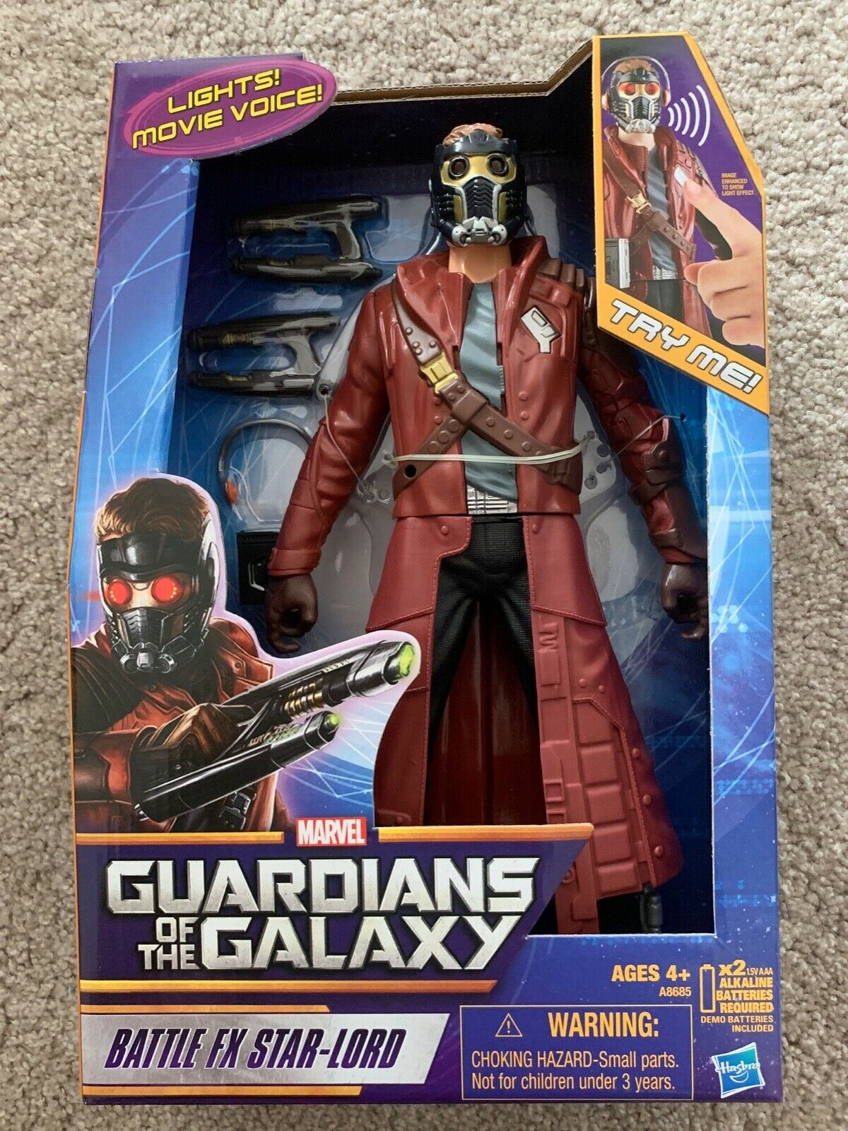 Marvel Guardians of The The The Galaxy Battle FX Star-Lord 12  Figure-Lights-Sounds 41c76d