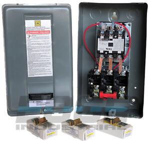 SQUARE-D-ELECTRIC-MAGNETIC-MOTOR-STARTER-CONTROL-7-5HP-230V-3PH-8911DPSG23V09