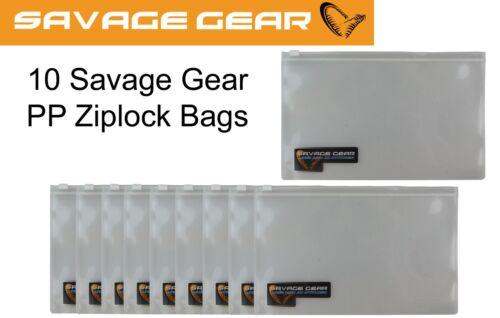 10 Beutel für Gummifische Savage Gear PP Ziplock bags Tackletasche