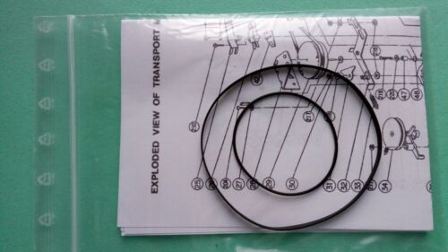 Riemen für Nakamichi DT-500 Dual-Tracer 2Head Cassette Tape Deck Rubber Belt-Kit