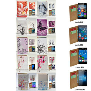 For Nokia Series - Butterflies Vector Print Theme Wallet Mobile Phone Case Cover